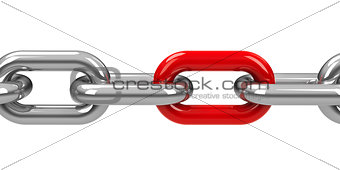 Chain with red link #2