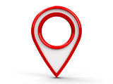 Red map pointer #2