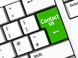 Computer keyboard green contact us
