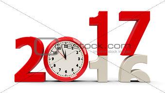 2016-2017 Clock dial