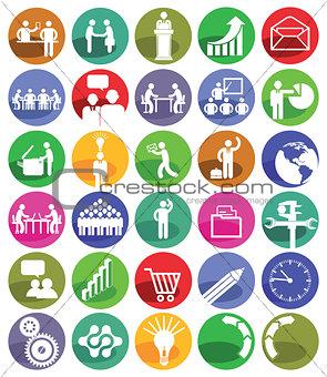Business Management Icon-Set