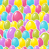 Easter colorful eggs background. Seamless pattern. Vector illustration