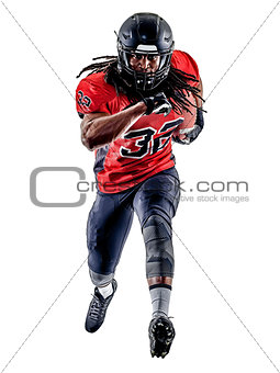 american football player man isolated