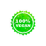 VEGAN stamp sign.