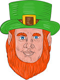 Leprechaun Head Front Drawing