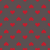 Hearts seamless red gray background pattern