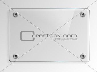 Transparent Glass Plate Mock Up