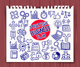 Doodle Strategic Business icons