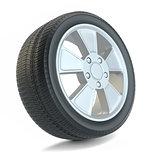 High Quality Car Wheel, Isolated