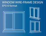 Design and manufacture of windows. Vector
