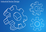 Design and manufacture of gears. Vector