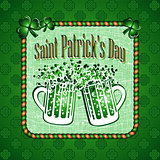 St Patricks Day greeting card background.