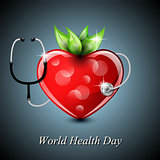 World health day postcard background.