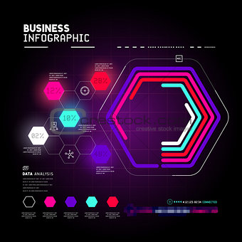 business infographic statistic charts