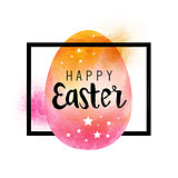 A happy easter design frame