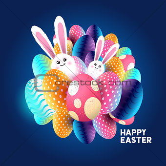 Abstract Easter design