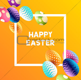Abstract Easter Egg Background