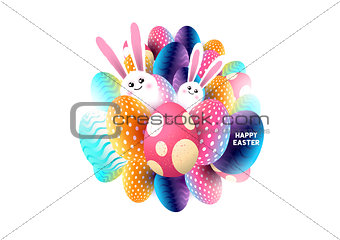 Abstract Happy Easter Design