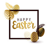 Happy Easter Black And Gold Design