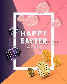 Abstract Modern Easter Design