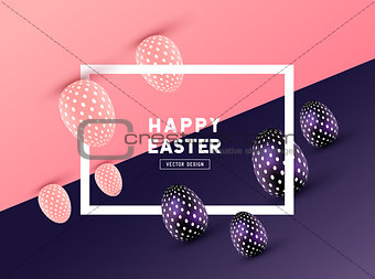 abstract Easter Frame Design