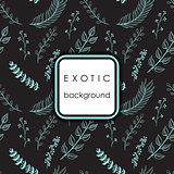Seamless exotic pattern with palm leaves .