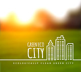 Ecologically clean green city.