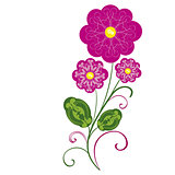 vector flowers flourishes 2