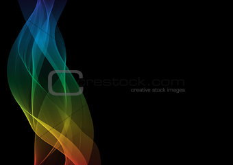 Abstract waves or smoke in spectrum colors