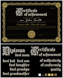 Black and gold certificate. Guilloche.Template. Horizontal.