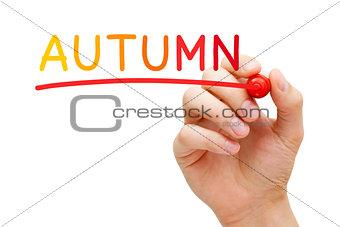 Autumn Handwritten With Marker