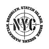 Black and white logo.