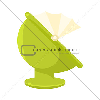 Green Plastic Round Chair With Hood, Object From Baby Room, Happy Childhood Cute Illustration