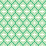 Geometric seamless pattern, Moroccan tiles design, green background