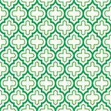 Geometric seamless pattern, Moroccan tiles design, green background