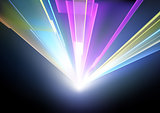 Laser Disco Lights Background