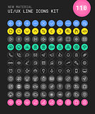UI and UX Material big bold line icons kit