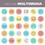 Inline Multimedia Icons Collection