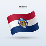 State of Missouri flag waving form. Vector illustration.
