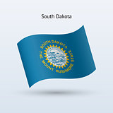 State of South Dakota flag waving form.