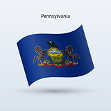 State of Pennsylvania flag waving form.