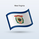 State of West Virginia flag waving form.