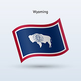 State of Wyoming flag waving form. Vector illustration.