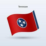State of Tennessee flag waving form. Vector illustration.