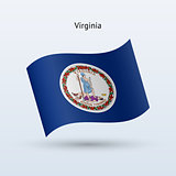 State of Virginia flag waving form. Vector illustration.