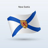 Canadian province of Nova Scotia flag waving form.