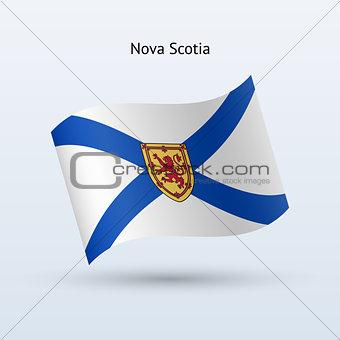 Canadian province of Nova Scotia flag waving form.