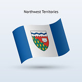 Canadian Northwest Territories flag waving form.