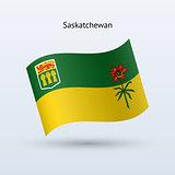 Canadian province of Saskatchewan flag waving form.