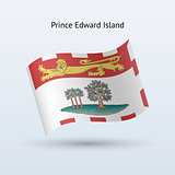 Canadian province of Prince Edward Island flag waving form.